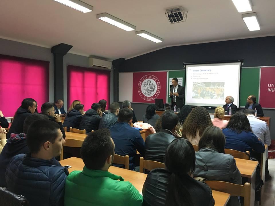 Klubi i Debatit Studentor YES merr pjesë në leksionin e hapur të SHTZ. Christoph Graf.