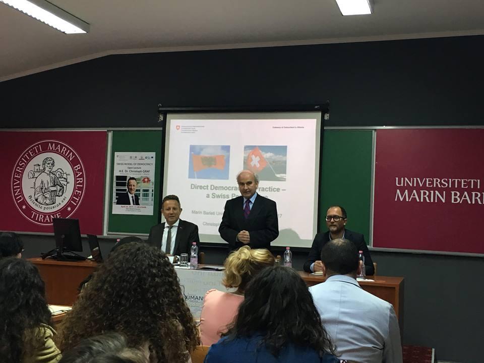 Klubi i Debatit Studentor YES merr pjesë në leksionin e hapur të SHTZ. Christoph Graf