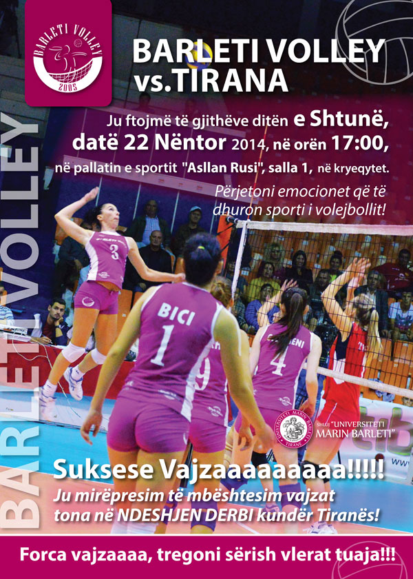 Barleti Volley Vs. Tirana