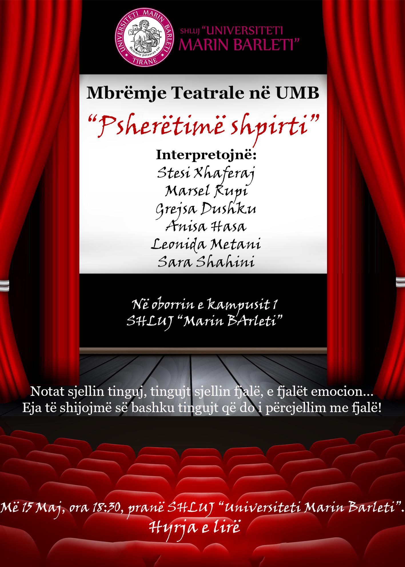 Mbremje Teatrale ne UMB organizuar nga Klubi i Debatit Yes