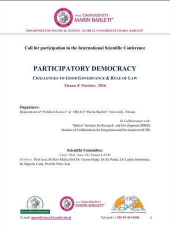 Call for participation in the International Scientific Conference