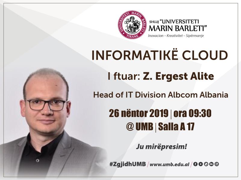 Leksion i hapur me temë: Informatikë Cloud (Computer Clouding)