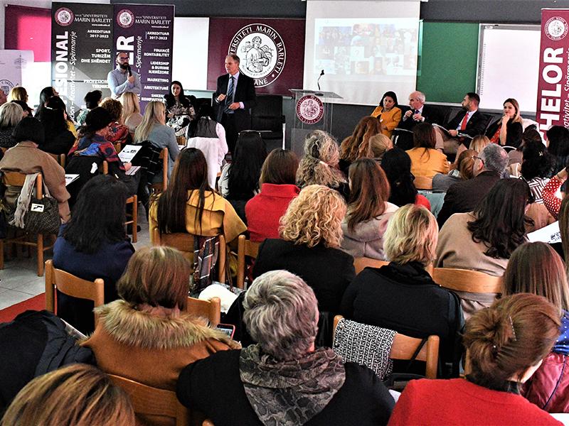 """Konferencë e përbashkët """"Roli i Drejtuesit të Gjimnazit në Rritjen e Cilësisë së të Nxënit"""""""