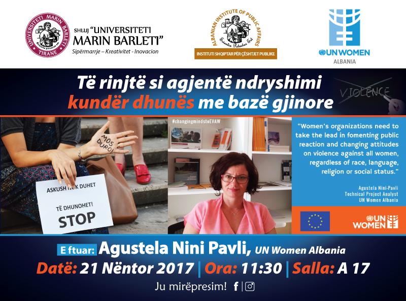 Të rinjtë si agjentë ndryshimi kundër dhunës me bazë gjinore
