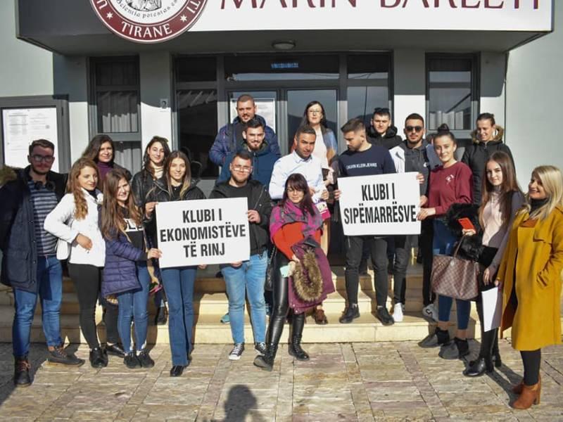 Klubi i Ekonomistëve dhe klubi i Sipërmarrësve në Universitetin Marin Barleti