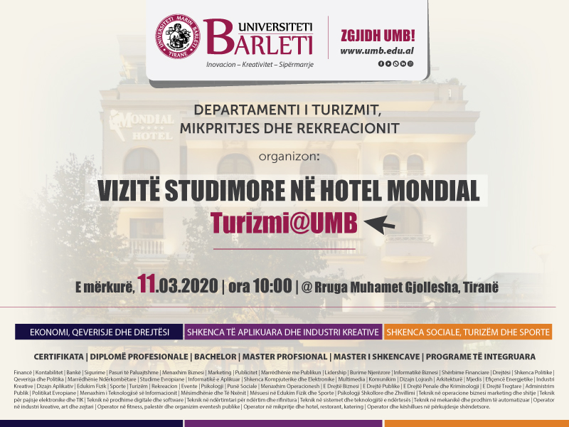 Vizitë Studimore në Hotel Mondial