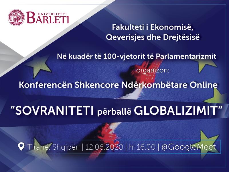 """Konferenca Shkencore Ndërkombëtare Online """"SOVRANITETI përballë GLOBALIZIMIT"""""""