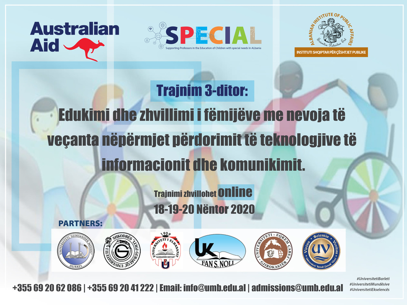 Edukimi dhe Zhvillimi i Fëmijëve me Nevoja të Veçanta-TIK