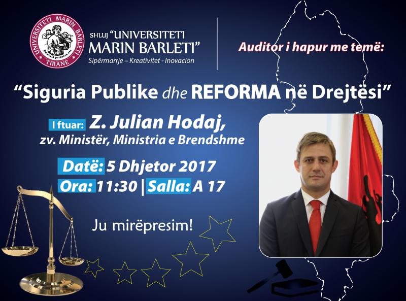 Siguria Publike dhe Reforma në Drejtësi