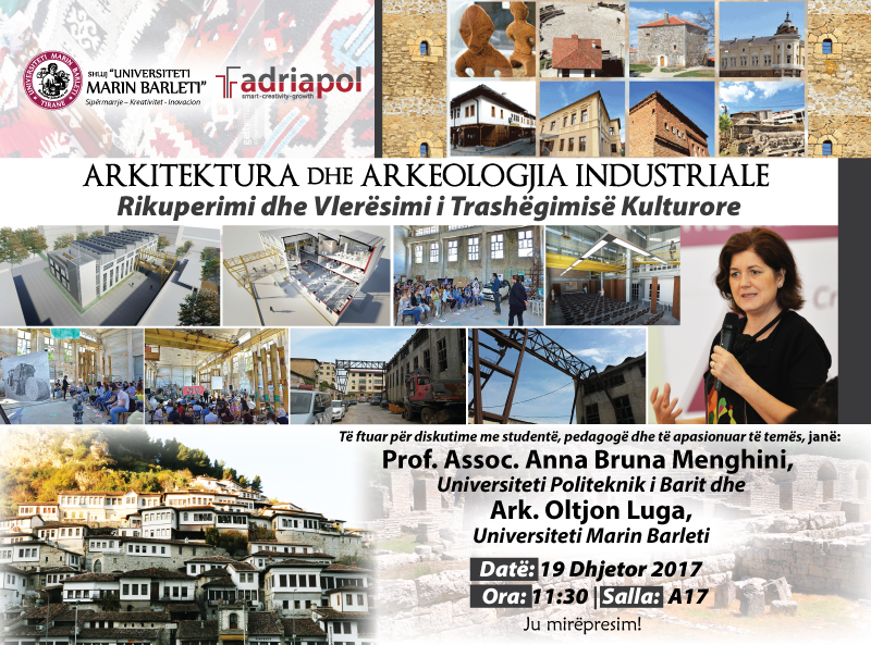 """INDUSTRIAL ARCHITECTURE AND ARCHEOLOGY """", RECOVERY AND ASSESSMENT OF CULTURAL HERITAGE"""