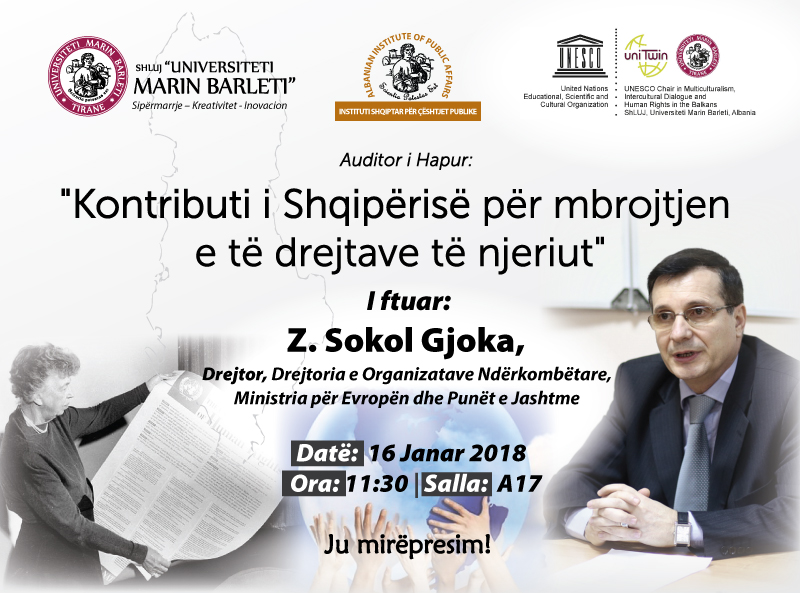 Kontributi i Shqiperise per mbrojtjen e te drejtave te njeriut