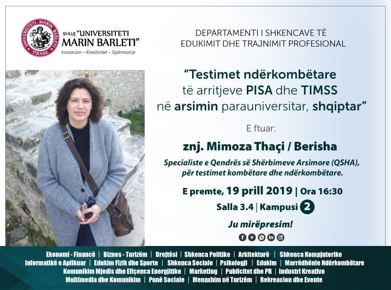 Testimet ndërkombëtare të arritjeve PISA dhe TIMSS në arsimin parauniversitar, shqiptar